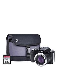 Kodak PIXPRO AZ422 20MP 42x Zoom Black Camera Kit Inc 16GB SDHC Card Case