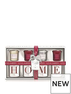baylis-harding-baylis-amp-harding-4-votive-candles-amp-home-holders-redwhite
