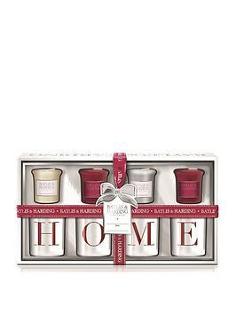 baylis-harding-baylis-harding-4-votive-candles-home-holders-redwhite