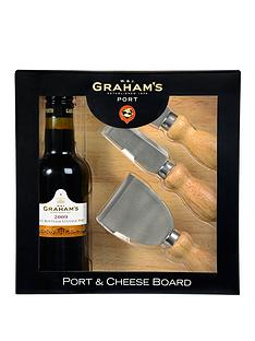 grahams-port-20cl-cheese-board-and-3-knife-set