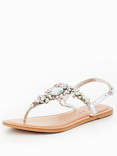 v-by-very-peachy-leather-embellished-toepost-sandal-silver