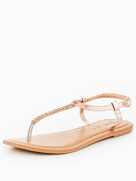 v-by-very-melodie-leather-embellished-toe-post-sandal-rose-gold