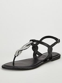 v-by-very-twist-embellished-flat-sandal-black