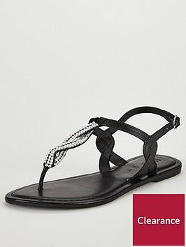 v-by-very-twist-embellished-flat-sandal-black