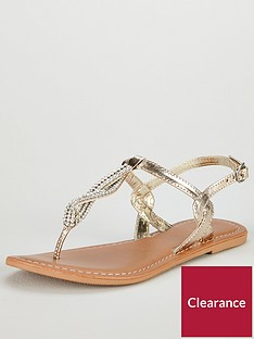 v-by-very-twist-embellished-flat-sandal-gold