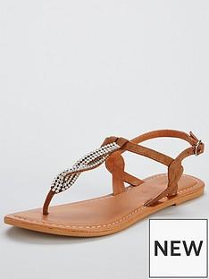 v-by-very-twist-embellished-flat-sandal-tan