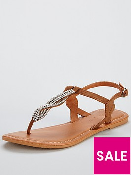 v-by-very-twist-embellished-flat-sandal-tan