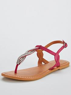 v-by-very-twist-embellished-flat-sandal-pink
