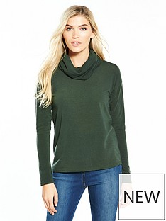v-by-very-cowl-neck-snit-top