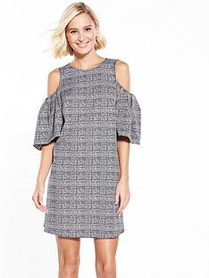 river-island-check-cold-shoulder-dress