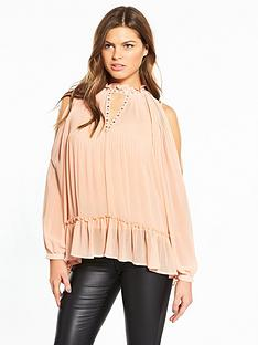 river-island-pink-cold-shoulder-blouse