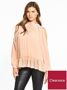 river-island-pink-cold-shoulder-blouse
