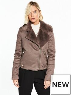 river-island-river-island-faux-shearling-biker-jacket--grey