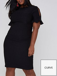 ri-plus-split-sleeve-midi-dress