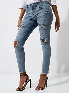 river-island-ripped-sequin-skinny-jeans