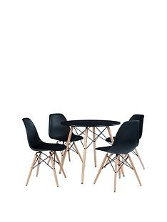 paris-80-cm-round-dining-table-4-chairs-black