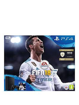 Image of Playstation 4 500Gb Ps4 500Gb Fifa 18 Console, 365 Psn Subscription And Extra Dualshock Controller