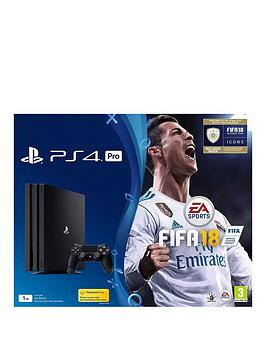 Image of Playstation 4 Pro Pro 1Tb Console With Fifa 18 Plus Optional Extra Controller And/Or 12 Months Playstation Network - Ps4 Pro 1Tb Fifa 18 Console And 365 Psn Subscription