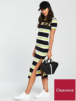 tommy-jeans-multi-stripe-midi-tee-dress