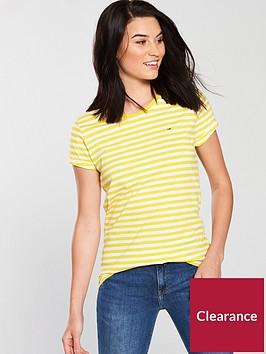 tommy-jeans-linen-blend-stripe-logo-t-shirt-dandelion-yellow