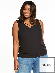 v-by-very-curve-cross-neck-cami-black