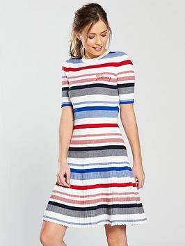 tommy-jeans-stripe-fit-amp-flare-dress