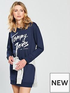 tommy-jeans-logo-sweatshirt-dress-black-iris