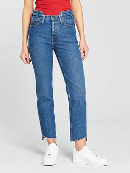 Tommy Jeans High Rise Slim Izzy Jeans - Mid Blue , Mid Blue Rigid, Size 8=26, Women thumbnail