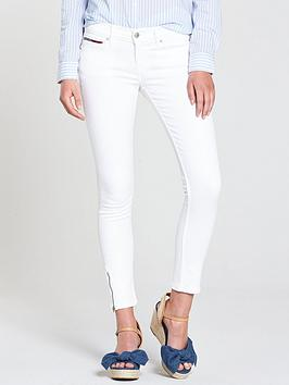 Tommy Jeans Mid Rise Skinny Nora Jean - White