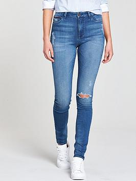 Tommy Jeans High Rise Skinny Santana Jeans - Mid Blue thumbnail