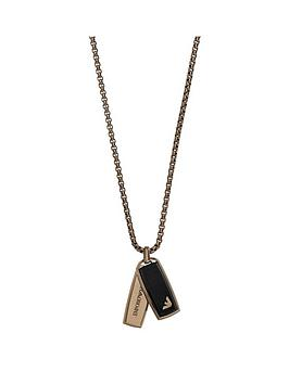 emporio-armani-stainless-steel-brown-ip-and-resin-mens-necklace