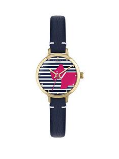 radley-radley-navy-leather-strap-watch-with-striped-dog-dial