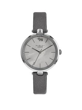 radley-st-dunstans-silver-metallic-leather-strap-watch