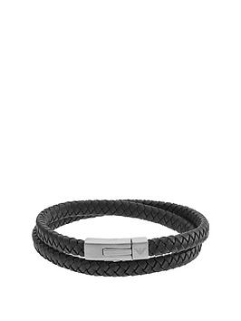 emporio-armani-black-leather-stainless-steel-clasp-mens-bracelet