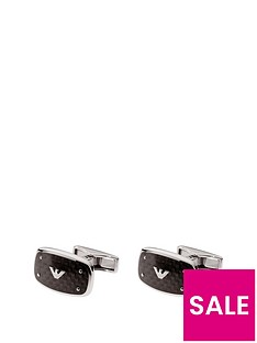 emporio-armani-stainless-steel-logo-cufflinks