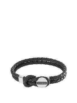 emporio-armani-emporio-armani-black-leather-stainless-steel-clasp-mens-bracelet