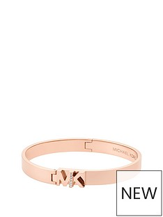 michael-kors-mkj6836791nbspiconic-rose-gold-tone-logo-bangle
