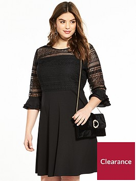 v-by-very-curve-lace-top-frill-sleeve-dress