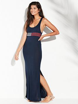 tommy-hilfiger-beach-maxi-dress-navy