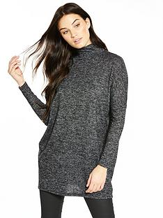 v-by-very-high-neck-snit-tunic