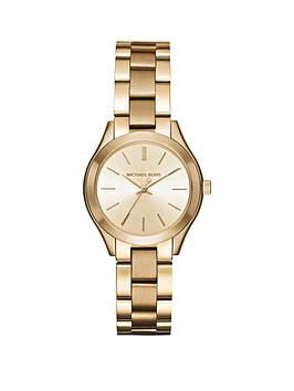 michael-kors-mk3512nbspmini-runway-gold-tonenbspladies-watch