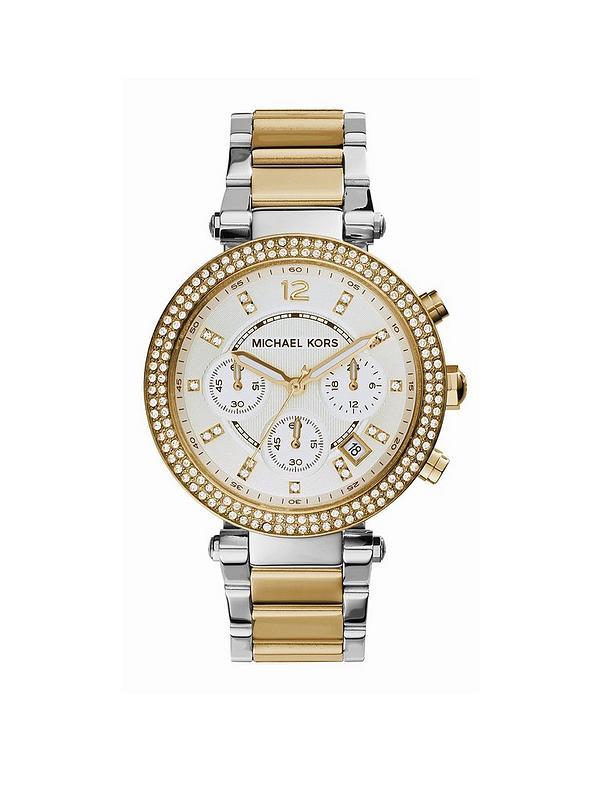 4ae6b2046051 MICHAEL KORS MK5626 Parker Two Tone Chronograph Ladies Watch