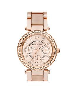 michael-kors-mk6110-mini-parker-rose-gold-tone-chronograph-ladies-watch