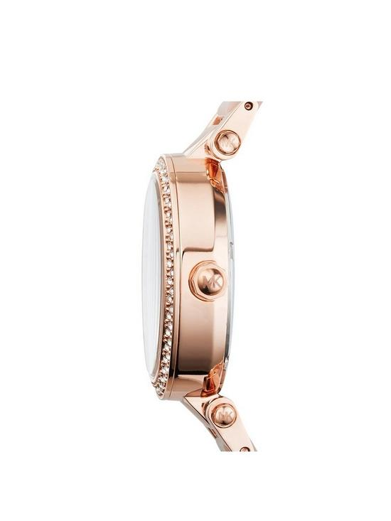 3701f0fa403a ... MICHAEL KORS MK6110 Mini Parker Rose Gold Tone Chronograph Ladies  Watch. 2 people have looked at this in the last couple of hrs.