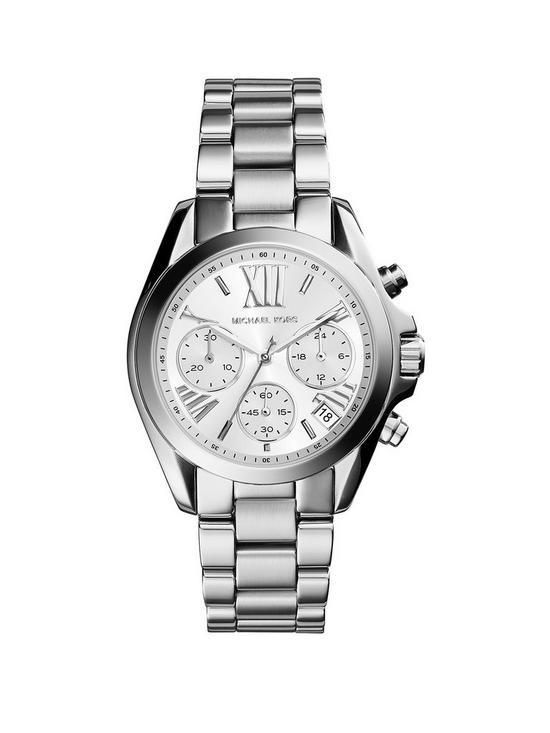 47512b239c5 MICHAEL KORS MK6174 Mini Bradshaw Silver Tone Chronograph Ladies Watch