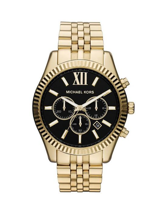 c1cf7db1ad85c MICHAEL KORS MK8286 Lexington Gold Tone Chronograph Mens Watch ...