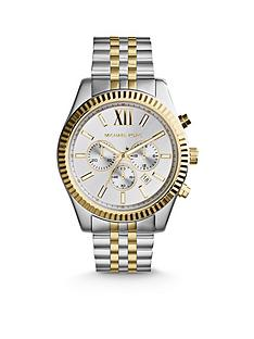 690f36b461e7 MICHAEL KORS MK8344 Lexington Two Tone Chronograph Mens Watch