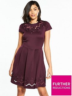 ted-baker-cheskka-lace-and-mesh-skater-dress