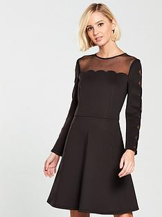 ted-baker-kikoh-mesh-panelled-skater-dress