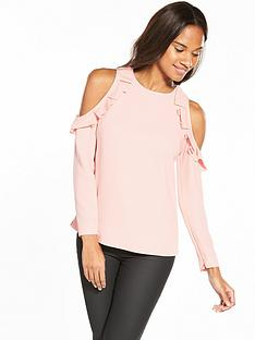 ted-baker-steffe-cold-shoulder-ruffle-top